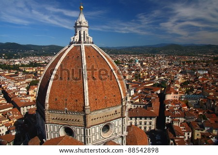 Florence from above (Italy). - stock photo