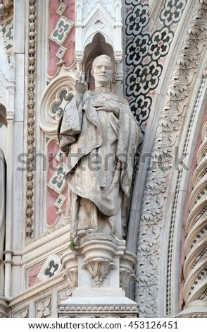 FLORENCE, ITALY - JUNE 05: Saint, Cattedrale di Santa Maria del Fiore (Cathedral of Saint Mary of the Flower), Florence, Italy on June 05, 2015 - stock photo