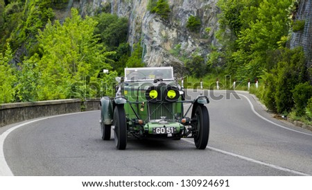 FLORENCE, ITALY - MAY 19: TALBOT AV 105 (1931) along Via Bolognese during the 1000 Miles on May 19, 2012 in Florence, Italy. - stock photo