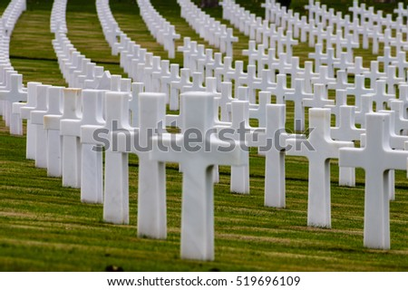 Florence, Italy - November 2015 - American Second World War Cemetery in Florence, Italy. 2015
