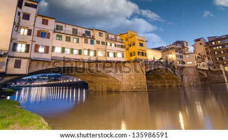 Florence, Italy. Wonderful medieval architecture. - stock photo