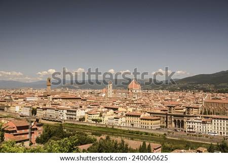 Florence Panorama: Santa Maria del Fiore - Florence, Italy - stock photo