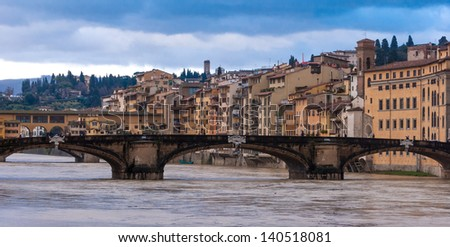 Florence, panorama with Old Bridge
