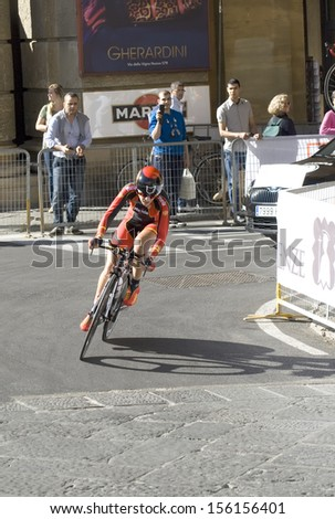 FLORENCE-SEPTEMBER 24 : The UCI road World Championship in Florence, on 24  September, 2013.  - stock photo
