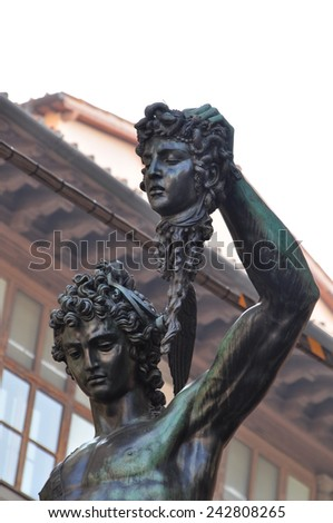 Florence Statue of Perseus the Gorgon - stock photo