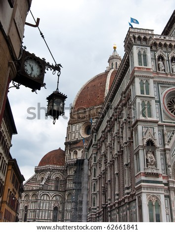 Florence,the most beautiful italian medieval  town. - stock photo