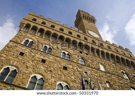 Florence - town-hall Palazzo Vecchio