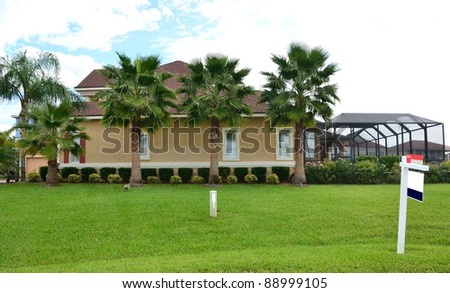 Florida home for sale - stock photo