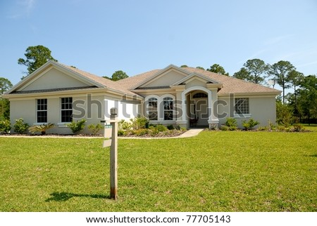 Florida home for sale on the east coast of florida usa - stock photo