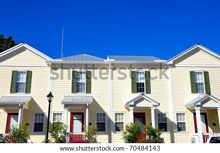 Florida Style Beach Houses - stock photo