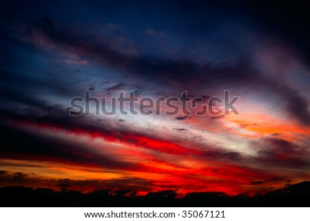 Florida Sunset - stock photo