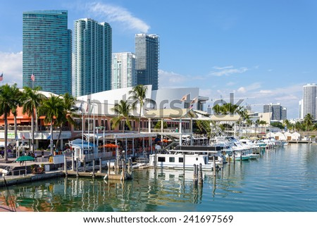 FLORIDA, USA - OCTOBER 31 : boats at everglades national park on October 31, 2014 in Florida, USA. - stock photo