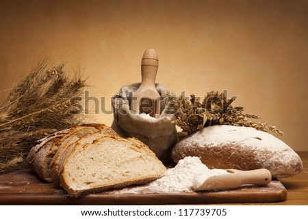Flour and traditional bread