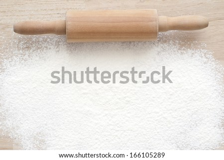 Flour Background - stock photo