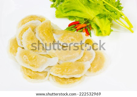 flour dumpling stuffed with flesh filling
