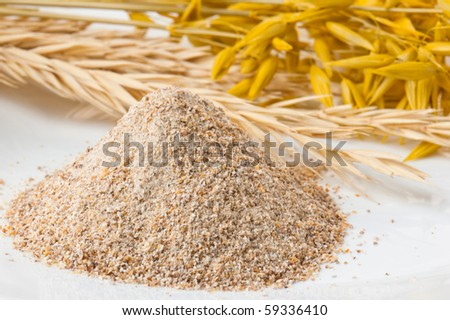 Flour of a rough grinding - stock photo