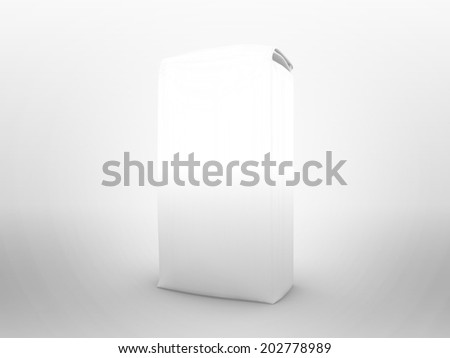 Flour package (food package) for use as a template - stock photo