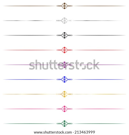 Flourish Borders - stock photo