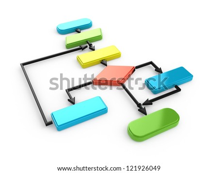 flow chart diagram - stock photo