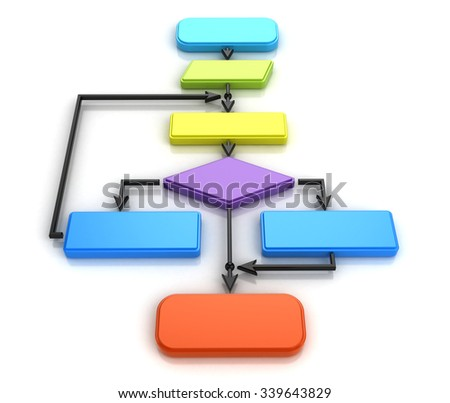 flow chart diagram - stock photo