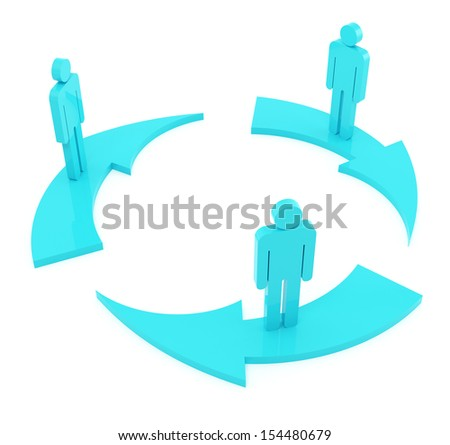 Flow chart on the white background - stock photo