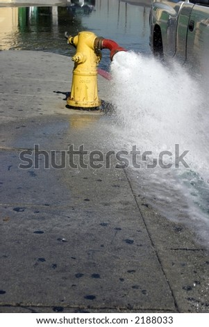 Flow Testing a Fire Hydrant