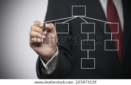 Flowchart,Executive as a background  - stock photo