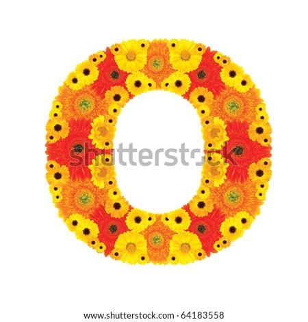 Flower Alphabet - O - stock photo