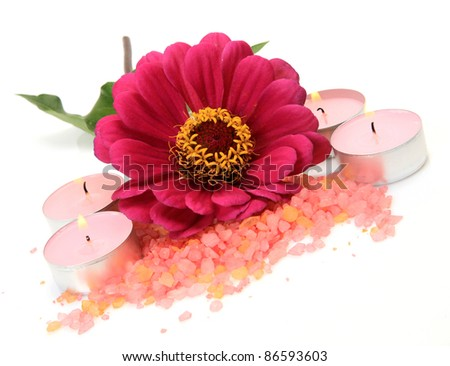 Flower and candles