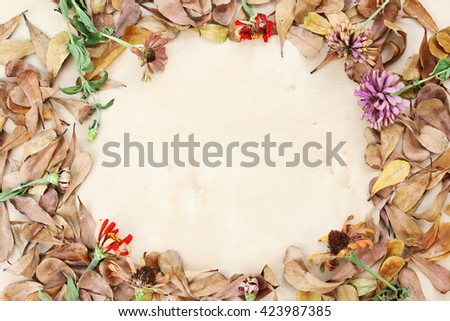 flower and leaf background