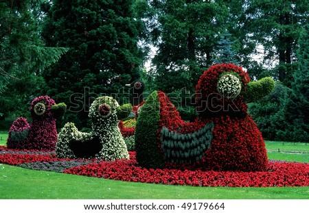 Flower animals, island Mainau, Lake of Constance, Germany - stock photo