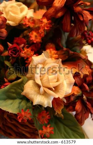 Flower Arrangement - Fall - stock photo