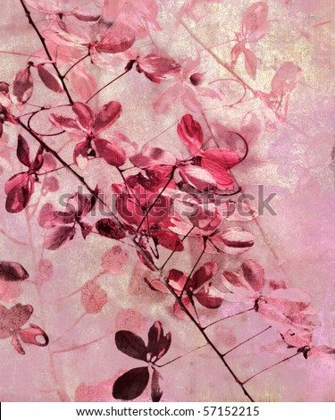 Flower Art Background - stock photo