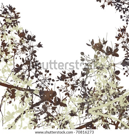 Flower Art on White - stock photo