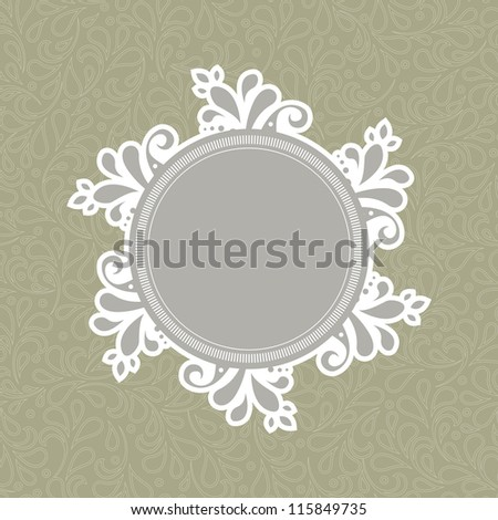Flower background template illustration. Perfect as invitation or announcement. For vector version, see my portfolio.