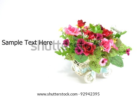 flower basket - stock photo