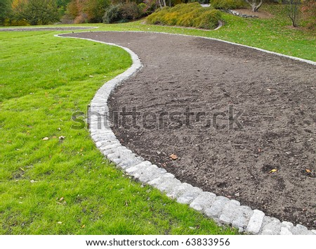 Flower bed ready for planting - stock photo