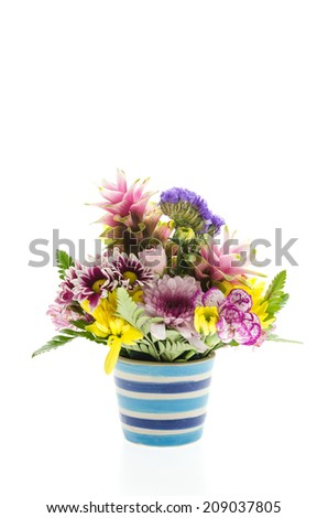 Flower bouquet isolated on white