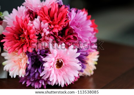 flower bouquet of gerber - stock photo