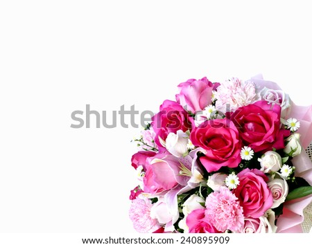 Flower bouquet with free space for text - stock photo