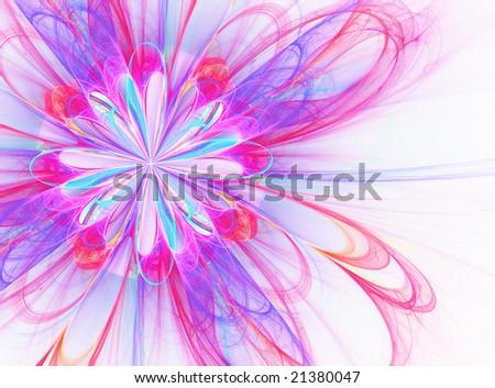 Flower Burst - fractal Illustration - stock photo
