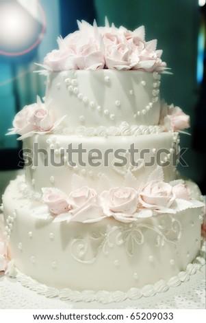 Flower Cake - stock photo