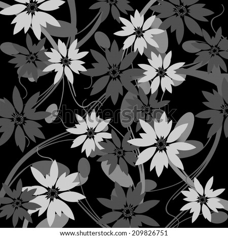 Flower Collage - stock photo