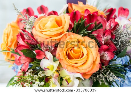 Flower decorate / Orange rose - stock photo