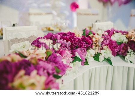 flower decoration at a beautiful wedding