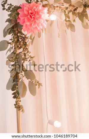 Flower decoration wedding bouquet restaurant decor stock photo flower decoration for the wedding bouquet in a restaurant decor agency junglespirit Image collections