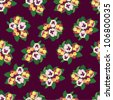Flower decorative seamless pattern. Floral background with pansy flowers - stock photo