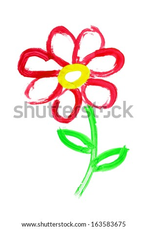 flower drawing - stock photo