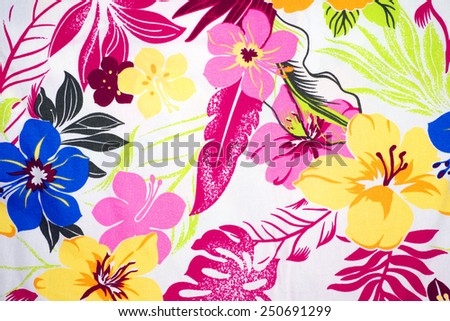 Flower fabric pattern - stock photo