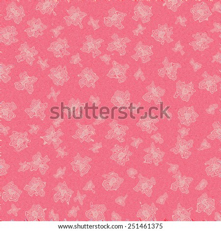 Flower floral abstract background, floral modern pattern on red background. Flower floral abstract ornament, abstract red floral pattern, abstract modern flowers background.